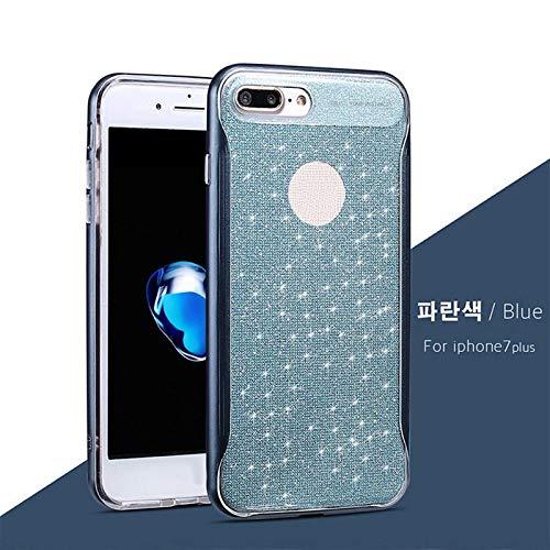Dulaxie - Mode-Handy-Fall für iPhone 7 Plus-6S 6 Plus Ultra dünne Abdeckung Bling Funkeln-Puder-weiche TPU rückseitige Abdeckung [Blau für iPhone 7 Plus] Glänzende - Blau Otterbox-fälle Iphone 6