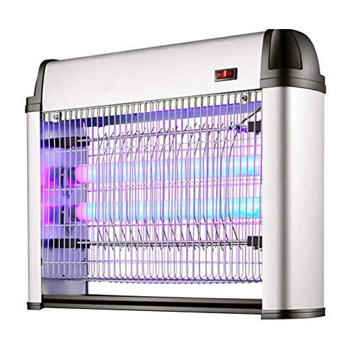 Leuchtstoff Bad (ZTMN Mückenvernichtungslampe UVA-Leuchtstoffröhre Anschluss für Stromschlagdämpfung Innen ohne Strahlung Moskito-Ablagefach, 2 Größen (Farbe: Silber, Größe: 43 x 9 x 33 cm - 30 W))