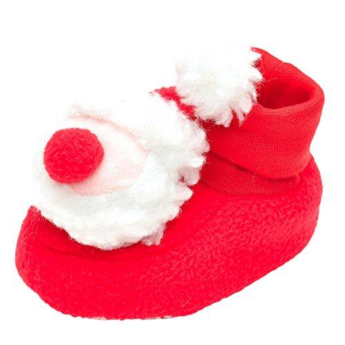 BURFLY Kinderkleidung ♥♥Red Nettes Weihnachten Neugeborenes Säugling Weiche Krippe schuhe Weiche Sohle Anti-Rutsch-Turnschuhe (6-12Monat (12CM), (Weihnachten Rot Plaid Schuhe)