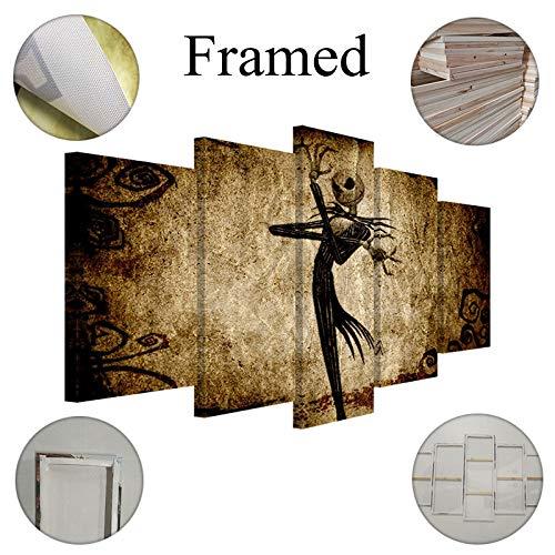 Fbhfbh Leinwandbild 5 Stück Cartoon Movie Nightmare Dekoration Wand-12X16/24/32Inch,Without Frame