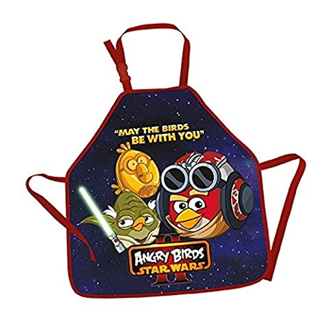 Tablier enfant - Taille universelle ANGRY BIRDS & STAR WARS II- Fourniture Scolaire
