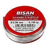 Bleifrei Sanitär-Installateure Lötdraht weichen s-Sn97Cu3 2.5mm für Kupferrohr 100g
