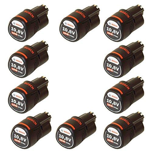 Preisvergleich Produktbild 10er Pack Bosch Ersatzakku 10, 8V / 2.5 Ah Einschub-Akku im Originalkarton