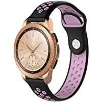 samLIKE Pulsera de Silicona para Samsung Galaxy Watch 42mm–Transpirable Suave Ajustable Deporte para Pulsera, 14Colores, para Hombre y Mujer, Color �� C