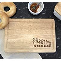 Personalised Family & Name Rectangle Chopping Board Wedding - Family Gift