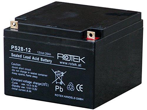 Preisvergleich Produktbild Rotek 12V 28Ah AGM Blei-Säure Fliesakkumulator,  Common Use für allgemeine Anwendungen