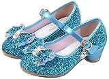 YOGLY Babies Fille Chaussure à Talon Enfant Ballerine Princesse avec Paillettes Noeud Papillon Chausson Maryjane