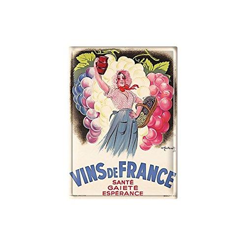 Éditions Clouet 29044 Tableau d'Affichage Vins de France Galland CP Métal 15 x 21 cm