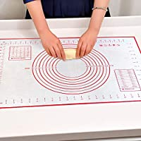 SULB Silicone Baking Mats 60x40CM Large Size Rolling Dough Mat Baking Supplies Pastry Mat Kneading Pad for Cake, Pie Crust, Pizza, Macaron Kitchen Tools