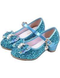 YOGLY Babies Fille Chaussure à Talon Enfant Ballerine Princesse avec  Paillettes Noeud Papillon Chausson Maryjane 0ecb52e7ecc8