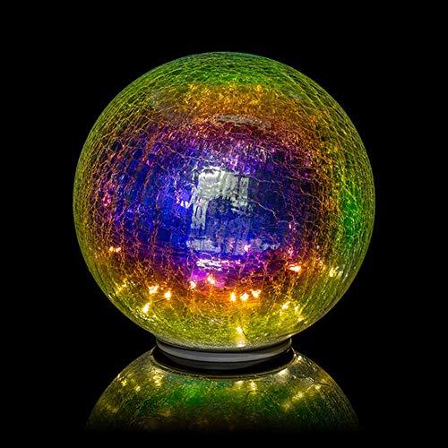 XL Glaskugel'Regenbogen' mit LED-Lichterkette inkl. Timer - In- und Outdoor geeignet -