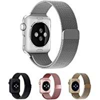 Smartwatch Armband,42mm Silber Milanaise Strap Armband Replacement Wrist Band für Apple Watch 42mm Serie1,2,3