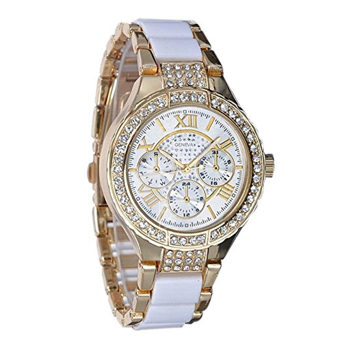 Donne Orologi - Geneva Women Orologi strass Crystal Donne Quarzo Orologi diamante Wrist Watch
