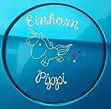 Neu Aufkleber Einhorn Pippi 11cm Limited Edition (Weiß)