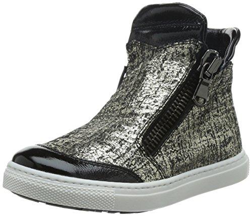 CIAO BIMBI - Sneaker argentata e nera in pelle, Bambina,ragazza,ragazze-33
