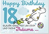 Humor 18 Geburtstag Karte Grußkarte Extra Konfetti Träume 16x11cm