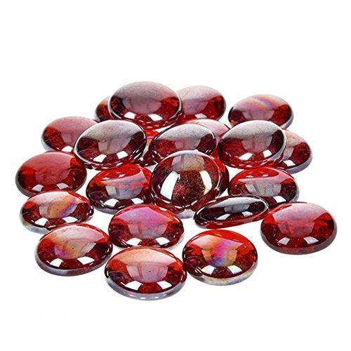 Color Rojo efco/ 35/Unidades /Pepitas de Cristal Iridiscente 13/ /15/mm