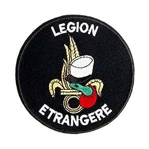 ECUSSON OU PATCH ROND DE LA LEGION ETRANGERE KEPI BLANC ET FLAMME DOREE VELCRO KZA-E-L-693 / 6529 AIRSOFT MILITAIRE ARMEE