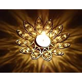 Crystal Tealight Holder |Flower Shape With 2 Tealight Candles Free |By Lyallpur Stores
