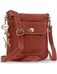 8e0bc65e2e3 Catwalk Collection Handbags - Women s Leather Cross Body Bag with Detachable  Adjustable Strap - LAURA