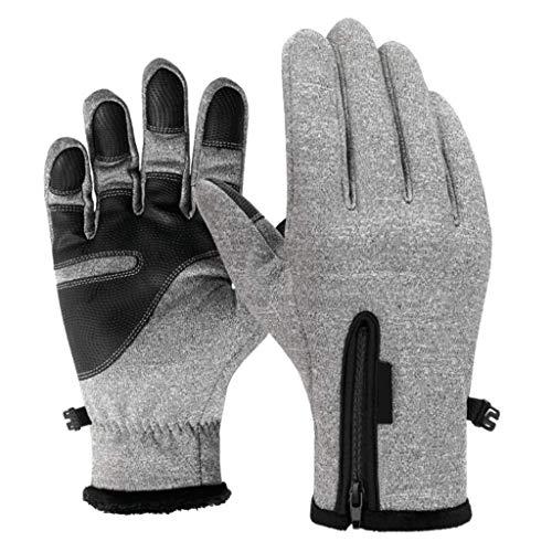 Xiaotian Warm im Freien Wasserdichten Handschuhen Winter Touch-Screen wärmt Winddicht All-in-One-Sport Plus Samt rutschfeste Handschuhe Reiten,B,S