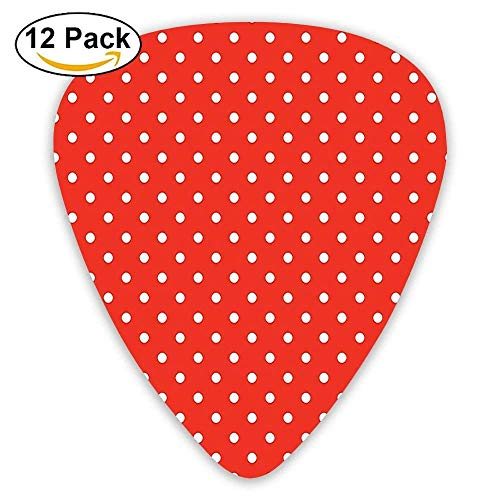 ots Pattern Nostalgic Trendy Girls Round Spots Design Guitar Picks 12/Pack Set ()