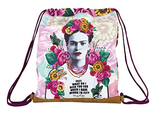 Frida Khalo  UnisexCanvas & Beach Tote Bag  pink / white 40 cm
