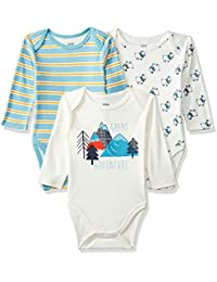 MINI KLUB Baby Boys' Regular Fit Bodysuit (Pack of 3)