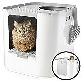 Modkat XL Katzenklo- Top-Entry oder Front-Entry konfigurierbar, Sieht gut aus, Reduziert die Litter Tracking