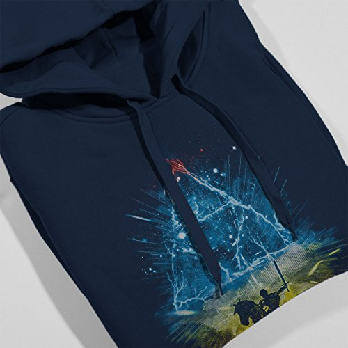 Triforce Storm Rainbow Legend Of Zelda Women's Hooded Sweatshirt Navy blue