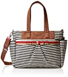 Babymel Cara Stripe Tote Bag, Navy Blue