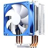 SilverStone SST-AR02 - Argon CPU-Kühler mit 3 Wärmerohren, Direct Contact Heatpipe-Technologie und 92 mm-PWM-Lüfter für Intel/AMD-Sockel