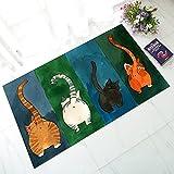 Lässige/Moderne Badematten Rubber Contemporary Badezimmer Leicht Zu Reinigen Ass Teppich, Bodenmatte Cute Glücklich Absorbierende Rutschfeste Fußmatte,Gray,L