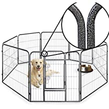Parque de valla octogonal para cachorros, resistente, plegable, 60 cm, 80 cm