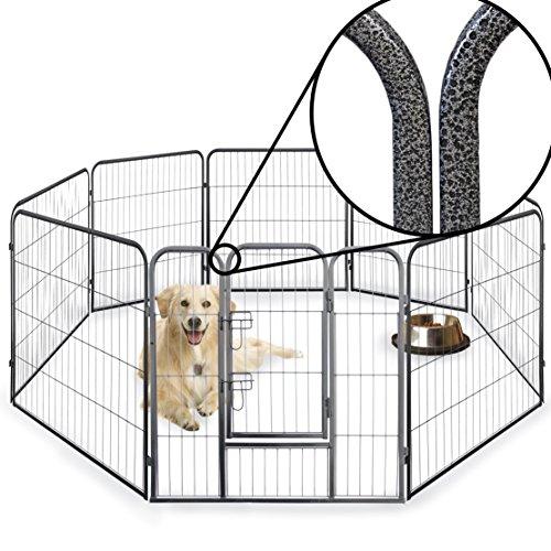 Parque de valla octogonal para cachorros, resistente, plegable, 60cm, 80cm y 100cm de alto. Para interiores o exteriores