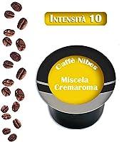 100 Capsule compatibili A Modo mio Miscela Cremaroma - Caffè Nibes. Mettiamo l'accento sulla qualità, le nostre capsule si distinguono dalle altre per il gusto inconfondibile, vengono prodotte usando caffè di primaria qualità, la produzione è...