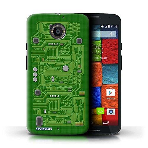 Kobalt® Imprimé Etui / Coque pour Motorola Moto X (2014) / Jaune conception / Série Circuit Board Vert