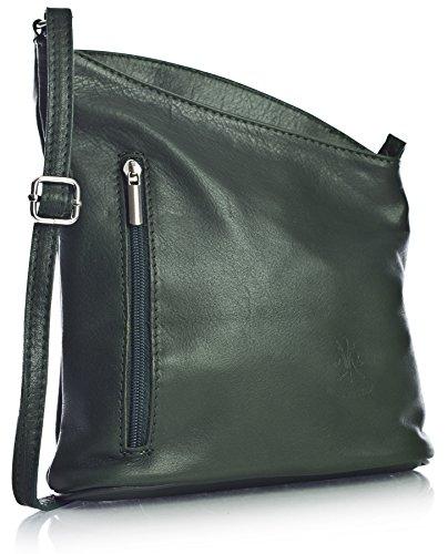 Big Handbag Shop, Borsa a tracolla donna One Verde (Pine Green)