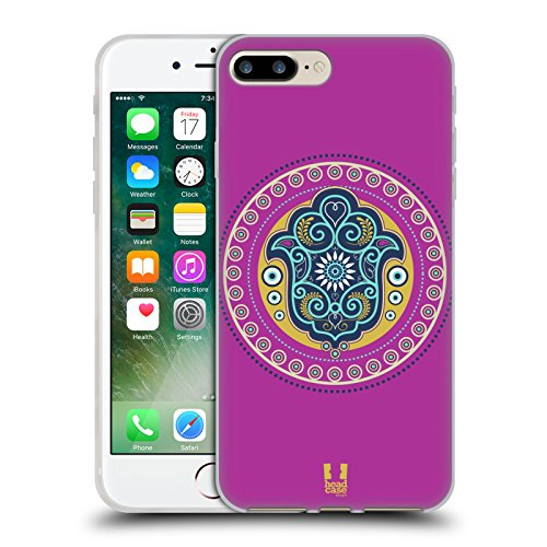 Head Case Designs Fatima Hamsa Cover Morbida In Gel Per Apple iPhone 7 / iPhone 8 Fatima