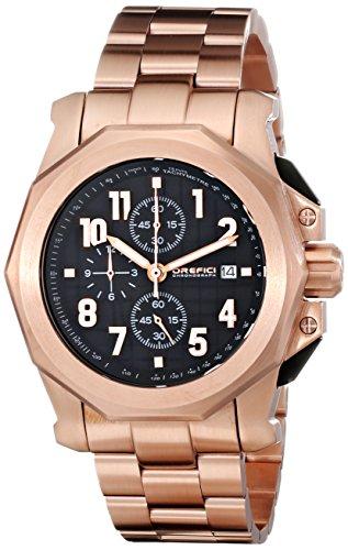 Orefici Unisex ORM6C4403BR Analog Display Quartz Rose Gold Watch
