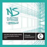 D'Addario NS617 elettrico-Kontrabass Einzelsaite ' alto C'di acciaio intrecciato nucleo medio
