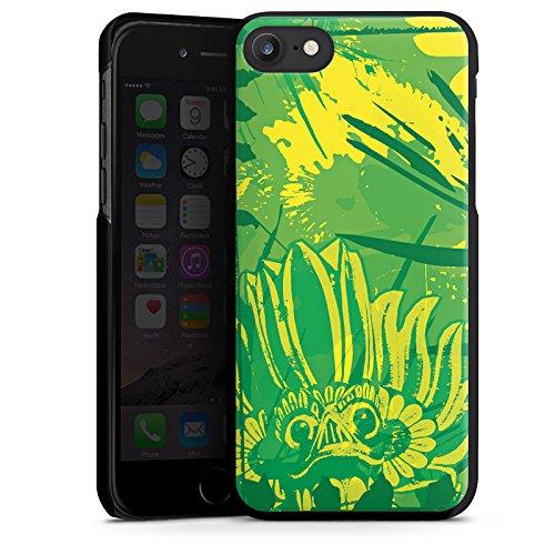 Apple iPhone X Silikon Hülle Case Schutzhülle Grün dschungel Art Hard Case schwarz