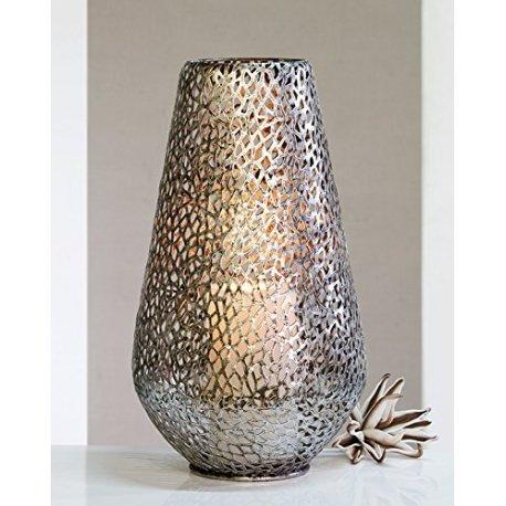 Casablanca - Boden-Windlicht - Purley - Metall - antik-Silber - Höhe 46 - Ø 25 cm