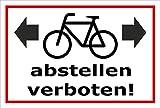 Melis Folienwerkstatt Aufkleber – Fahr-räder abstellen verboten - 45x30cm – S00050-094-B +++ in 20 Varianten erhältlich