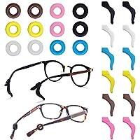 FineGood 12 pares de retenedores de gafas, silicona antideslizante para gafas de sol y gafas de lectura