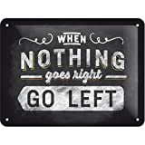 Nostalgic-Art 26193 Word Up Go left, Blechschild, 15 x 20  cm