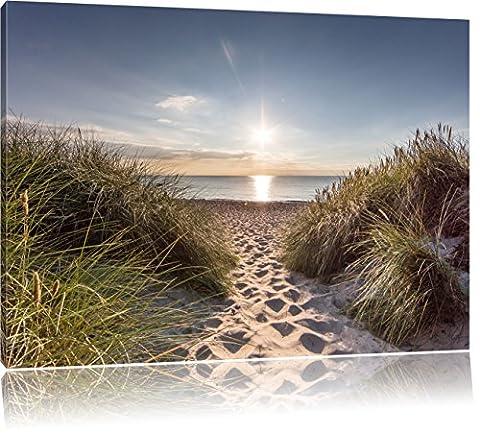 der Weg ins Meer, Format: 120x80 auf Leinwand, XXL riesige