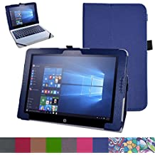 "HP Pavilion x2 12 Funda,Mama Mouth Slim PU Cuero Con Soporte Funda Caso Case para 12"" HP Pavilion x2 12-b000ng 12 Inchs Tablet 2016,Azul oscuro"