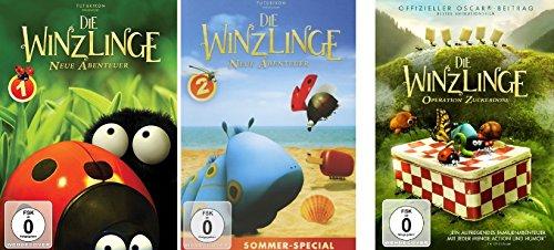 3 DVDs - Die Winzlinge: Operation Zuckerdose + Neue Abenteuer Volume 1&2 im Set - Deutsche Originalware [3 DVDs]