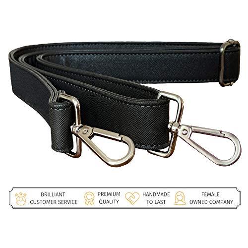 BFB Ersatz-Schultergurt für Messenger-Tasche, Handtasche, Laptoptasche, Aktentasche, Reise-Tote, personalisierbare Metallverschlüsse schwarz (Laptop-tasche Von Gucci)
